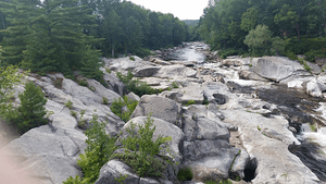 I love the smooth rocks on the Sandy River, Phillips, ME
