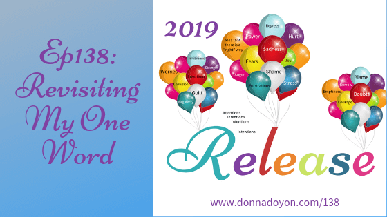 Donna Doyon - Revisiting My One Word