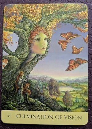 Culmination of Vision from Nature's Whispers oracle deck