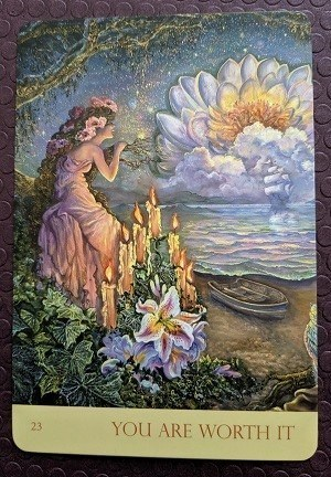 You are Worth It from Nature's Whispers oracle deck